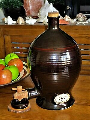 Authentic Vintage Old Ballarat Pottery Glazed Barrel / Jug  / Dispenser