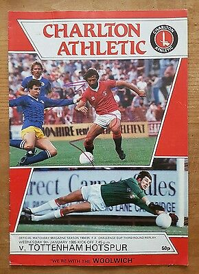 Charlton Athletic vs Tottenham Hotspur 1984/1985 FA Cup 3rd Round Replay Spurs