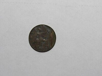 Old Great Britain Coin - 1916 Farthing - Circulated, discolored, rim dings
