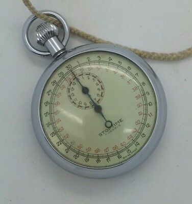 Vintage STOPTIME 7 Jewels Stopwatch Swiss Made