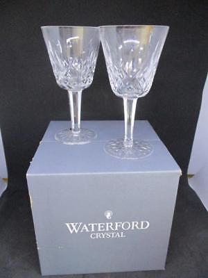 x6 WATERFORD CRYSTAL LISMORE CLARET GLASSES WINE BOXED