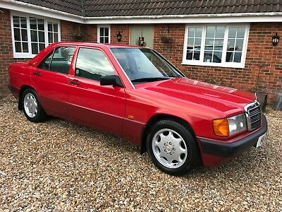 1990 Mercedes Benz 190e 2.0 Auto in Signal Red Cherished Registration H8 CSH