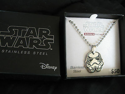 STAR WARS STORM TROOPER STAINLESS STEEL NECKLACE....Retail 50.00