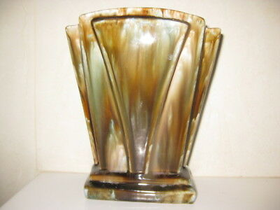 1930's Regal Art Ware++Rare Shape +Fan Vase+Large ++Perfect++Perfect++Perfect