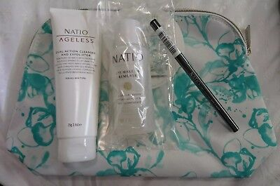 Natio Gift Pack - Never used. Black eye liner & remover, Ageless Dual Act, Bag.