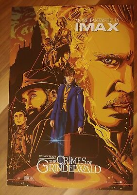 """FANTASTIC BEASTS: CRIMES OF GRINDELWALD Movie poster 13"""" x 19"""" PREMIERE IMAX"""