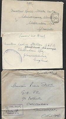 1950        Three Covers     As Shown  Field Post Offices