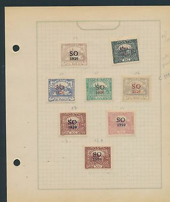 XB31099 Czechoslovakia Silesia Orientale 1920 old stamps lot MH/used