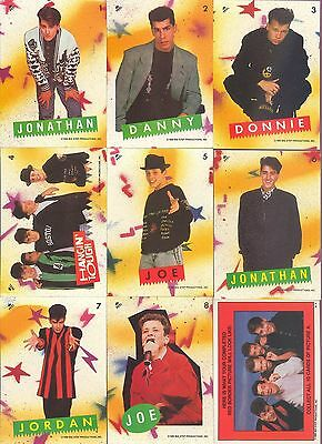 New Kids On The Block Series 1 Complete 88 Card And 11 Sticker Set Topps 1989