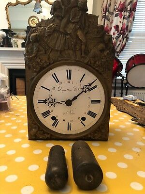 Two Comptoise antique clocks stunning as wall clocks and two more movements