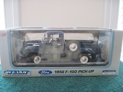Welly 1956 Ford F-100 Pick-Up Truck1:18Die Cast Nrfb Mint