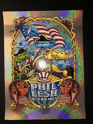 Phil Lesh And Friends Poster Capitol Theatre NY 17 Sparkle Foil! S/N AJ Masthay