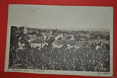Ancienne carte postale CPA PK PC Crézancy Cher Village Coll Girard Cim 1937