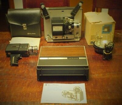 Bell & Howell Super 8 Reg 8mm Dual Autoload Movie Projector & Camera Model 456 K