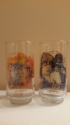 2 Burger King Coca Cola Star Wars Drinking Glasses