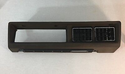 Datsun 280Zx Center Dash Trim With Air Vents Brown Color 1979-1983