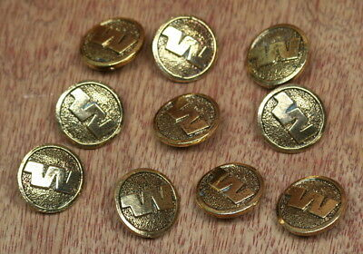 """Western Airlines Lot of 10 Uniform Buttons 3/4"""""""