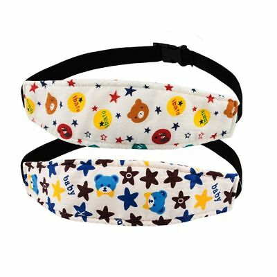 Packs of 2 Baby Kids Safety Head Support Band, Donier Comfortable Pram Stro I3L2