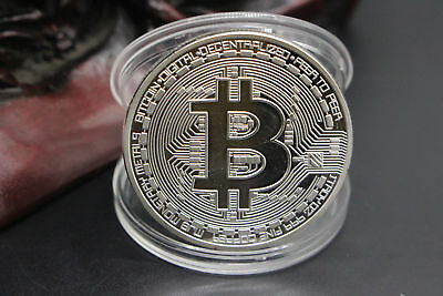 BITCOIN! Gold Plated Physical Bitcoin in protective acrylic case BTC Collection