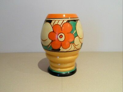 CLARICE CLIFF shape 362 VASE in FLOREAT pattern PERFECT.