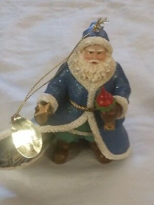 Thomas Kinkade Old World Santas Christmas Ornament Finishing Touch of Faith