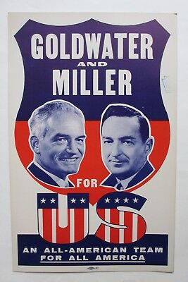 Goldwater & Miller Picture Poster-For US-An All-American Team For All America