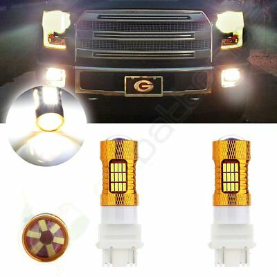 2x 60W 3157 HID Replacement Cree LED 54 SMD DRL Daytime Bulb 6000LM Lights 12V