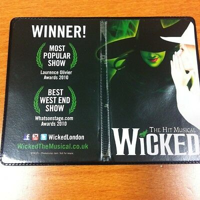 Wicked The Musical RARE GIFT Oyster/Bus Pass Holder Wallet Collectible Halloween