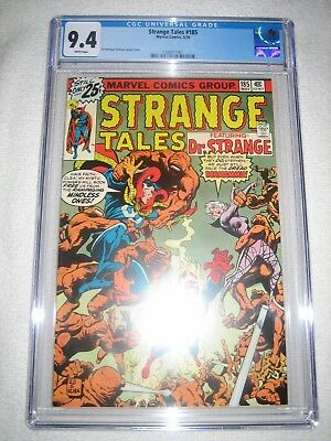 Strange Tales # 185 Cgc 9.4 Wh - Awesome New Cover By Ed Hannigan & Klaus Janson