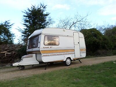 Dinky 12Ft Vintage 1983 Classic 2 +2 Berth Retro Touring Caravan Awning Delivery