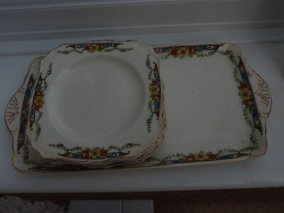 Sandwich Tray &  side plates x 6 by Meakin