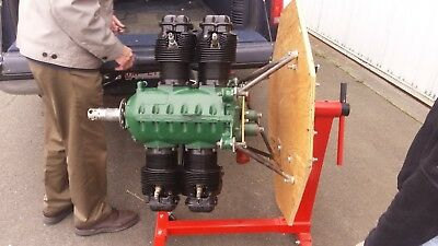 Aircraft engine Continental A65 low hours from new 110 TT 10 on OH books log
