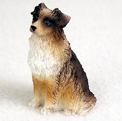 AUSTRALIAN SHEPHERD AUSSIE BROWN TINY ONES DOG Figurine Statue Pet Gift Resin