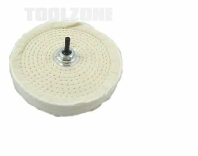"6"" 150mm QUALITY BENCH GRINDER TOOL COTTON BUFFING / POLISHING WHEEL MOP / WHEEL"