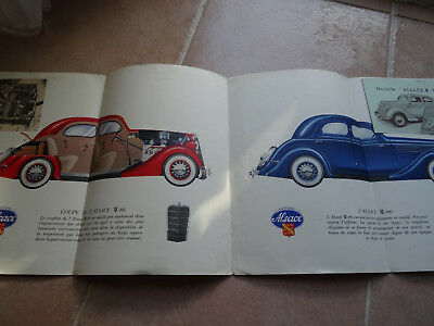 Rare Ancien - Authentique Depliant Pub - Auto - Matford Alsace -1935 Ford Mathis