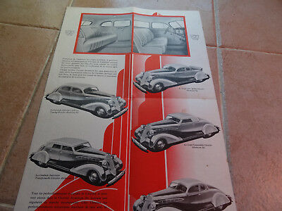 Rare Ancien - Authentique Depliant Pub - Auto - Chrysler - Airstream 6 - 1935
