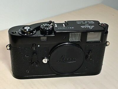 Leica M2 Black Repaint Motor Coupled with M6 Loading 35mm Rangefinder Camera