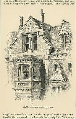 Antique Victorian Gable House Architecture Commonwealth Ave Boston Ma Art Print
