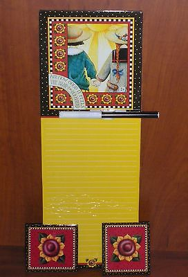 Mary Engelbreit-Dry Erase Memo board & set of 2 Magnets~Great item for your Kit.