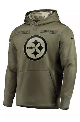 NWT Pittsburgh Steelers Nike 2018 NFL Men's Salute To Service Therma Hoodie XL