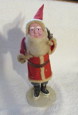 "Antique ,vint. Japan Santa Claus,clay Face ,belsnickle , 8- 1/2 "" High.1950's"