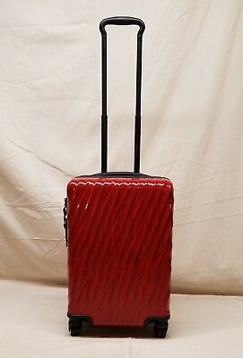 New Tumi 19 Degree Red 4 Wheel Spinner International Carry On Style 228660