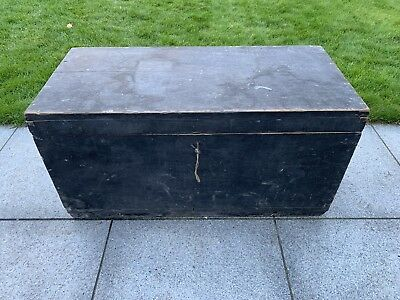 Large Antique Wooden Carpenters Sea Chest, 90+ Years Old