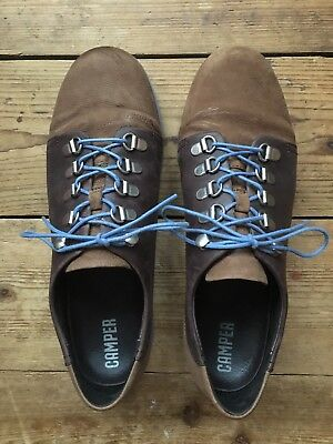 Women's Camper Hiking Style Brown Leather Shoes Size 40