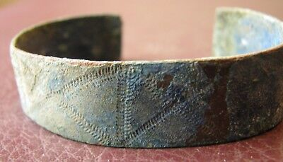 Authentic Ancient Lake Ladoga VIKING Artifact > Bronze Bracelet  VV 2-J