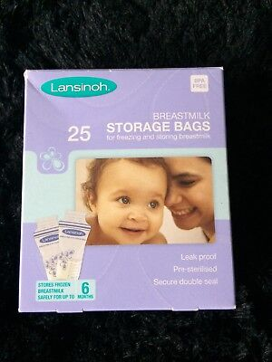 Lansinoh Breastmilk Storage Bags (29 Pieces) Brand New