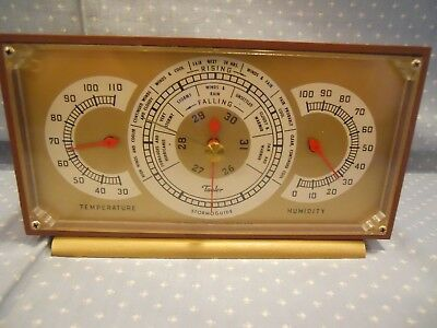 Vintage Taylor Stormoguide Barometer Thermometer Hygrometer Humidity Made in USA