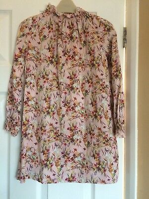 Girls Stunning Pink Floral Flower Dress From Next Sz 7 Years Excellent Co