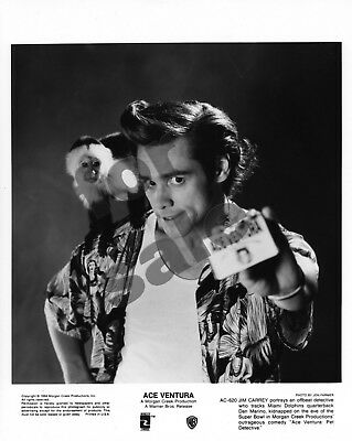 Ace Ventura Pet Detective Movie Still B&W Photo + 7 Colour Slides Jim Carrey