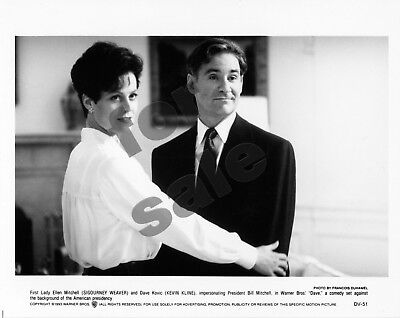 Dave Movie Still 3 B&W Photos + Color Window Cling Kevin Kline Sigourney Weaver